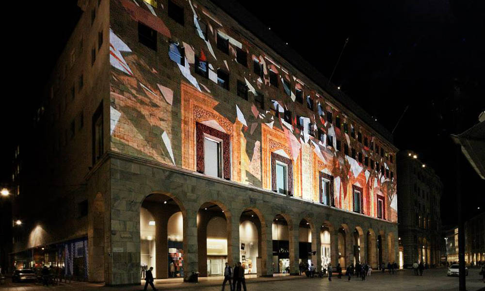 La Rinascente Wall Mapping 3d
